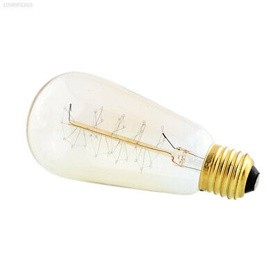 075A E27 40W 110V Vintage Antique Edison Light Lamp Spiral Filament Bulb ST64