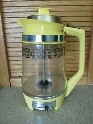 Procter Silex Perculator glass 12 Cup Yellow lP216HA WORKS vintage  Read all