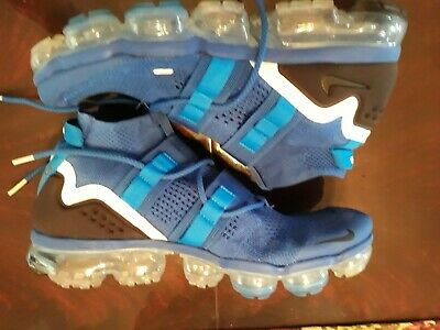 Nike Air Vapormax Flyknit Utility Mens Size 10.5 Blue White Black