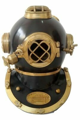 Antique Reproduction U S Navy Mark V Diving Divers Helmet Brass Made Marine Gif