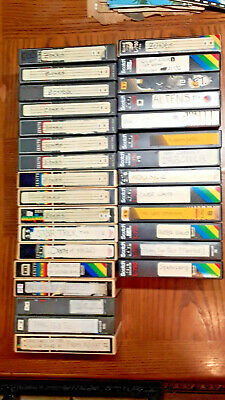 LOT #4 30 Beta Betamax Used Tapes TV Shows Movies Not VHS SOLD AS BLANKS