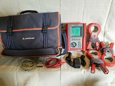 AMPROBE DM-III S Power Quality Recorder w/ 3 Amprobe DM-CT-HTA Clamps and Case