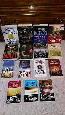 Lot of 15 DAVID BALDACCI Books WILL ROBIE GUILTY TARGET FIRST EDITIONS