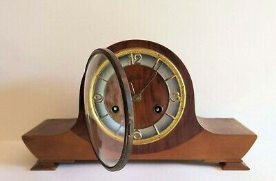 Dutch WUBA Warmink Mantel Clock Mid Century Teak with Schatz Germany Movement