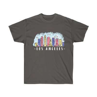 L.A. Los Angeles California Skyline Men's Unisex Women's T Shirt Tee