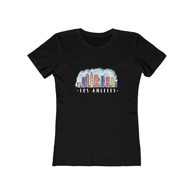 L.A. Los Angeles California Skyline Women's T Shirt Tee