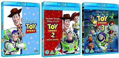 Toy Story Trilogy Blu Ray Bundle English All Regions General Audience Disney NEW