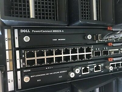 Dell PowerConnect M6220 1GB Ethernet 24 Port Switch for M1000e