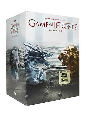 GAME OF THRONES COMPLETE SERIES SEASONS 1-7 (DVD 34-Disc).new free delivery