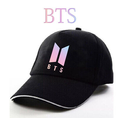BTS Sunhat Warmth Baseball Caps Outdoor Casual Peaked Cap Black Hats 60-65cm