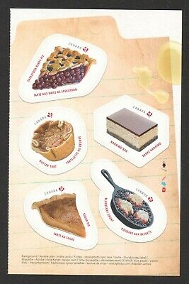 Canada 2019 Traditional Desserts Booklet Pane Comp. Set Of 5 Stamps In Mint Mnh