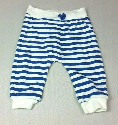 M&S Baby Boys JOGGERS 9-12 Months Blue Stripe Jogging Bottoms - COMBINED POSTAGE