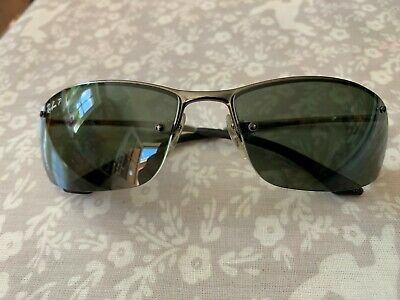14ad1aa7c Ray-Ban Top Bar Polarized sunglasses RB3183 004/9A black lens silver metal  frame
