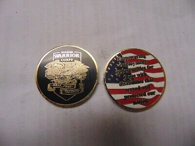 """Wounded Warrior /""""No One left Behind/"""" Challenge Coin 2523 Armed Forces U.S"""