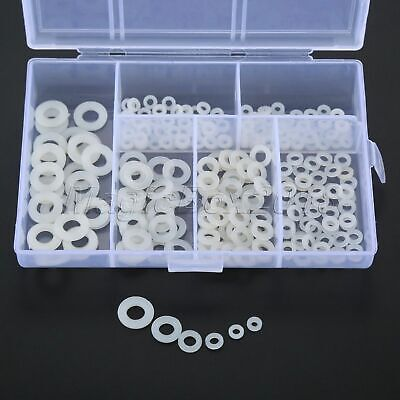 Nylon Washer Flat Spacer Insulation Pad Gasket Ring Screw Bolt Accessory 250PCS