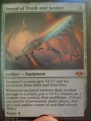 x1 Sword of Truth and Justice MTG Modern Horizons M M//NM English