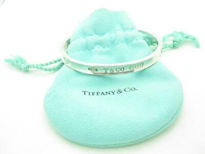 Tiffany & Co. Sterling Silver 1837 Collection 6mm Oval Bangle Bracelet - Pouch