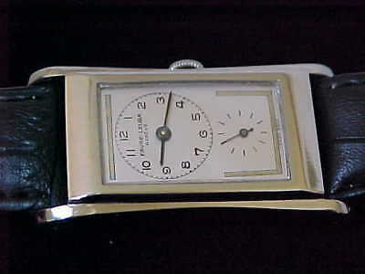 Vintage Favre Leuba Silver Case Prince Styled Duo Dial Doctors Watch Restored