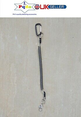 Metal Detecting, Coiled Security Lanyard With Swivel Clip,Finds,Coins,Pinpointer
