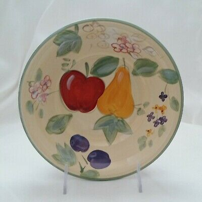 Gibson Designs Fruit Grove Hand Painted Pears Apples Soup Cereal Bowl 8.25 Inch