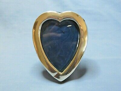 Antique Victorian Silver Rimmed Heart Shaped Photo Frame Hallmarked 1899