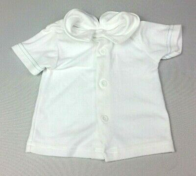 CHIC Baby Boys T-SHIRT TOP 3-6 Months White Collared Buttoned - COMBINED POSTAGE