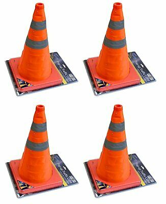 "4x 18"" Collapsible Pull Out Pop Up Safety Emergency Accident Traffic Road Cones"