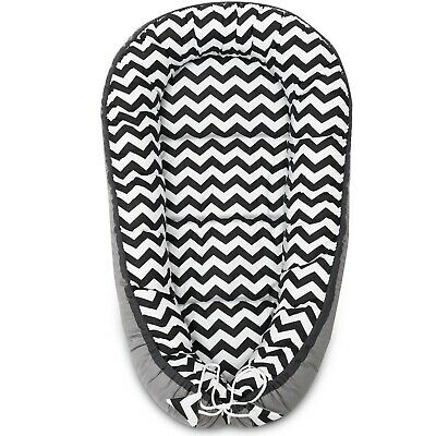Baby Nest Cushion Pod 100% Cotton Infant Pod Pillow Blanket Zig Zag Sleep Baby