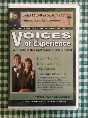 Voices Of Experience - 4 CD Real Estate Seminars By Darryl Davis