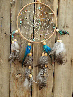 Hand Made Dream Catcher Native American Style With Blue Birds