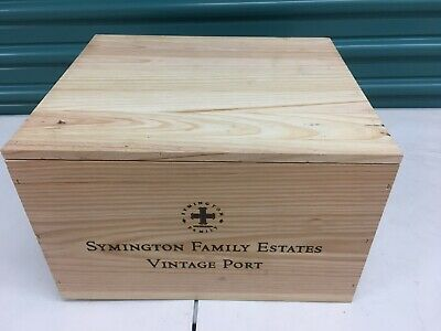 """CHANSON PERE /& FILS FRENCH 2015 WOOD WINE CRATE 12 1//2/"""" X 10 5//8/"""" X7 1//4/"""" 6 PACK"""