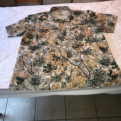 ee6f265c89479 Game Guard Men's Vented Desert Camo Cactus Hunting Short Sleeve Shirt 2XL