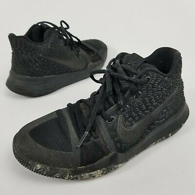 new style fd226 76388 NIKE KYRIE IRVING 3 GS Marble Triple Black Size 5.5Y Shoes 859466-005 2017  Nice!