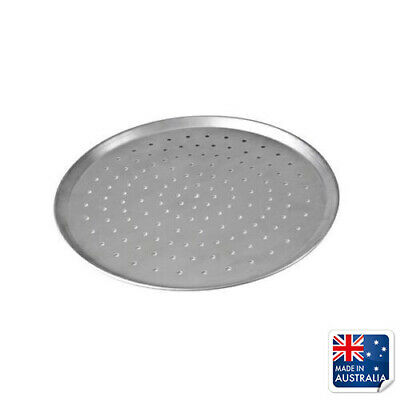 "Pizza Pan / Tray 250mm 10"", Aluminium Perforated Plate, Round Oven Tray"