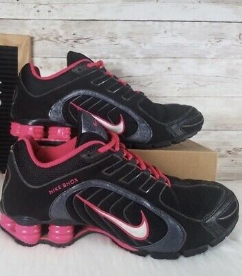 online store c5585 29748 Nike Shox Navina Black Pink Running Shoes 356918 Womens Size US 8.5