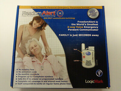 LogicMark Freedom Alert Personal Emergency Response System 35911 Complete