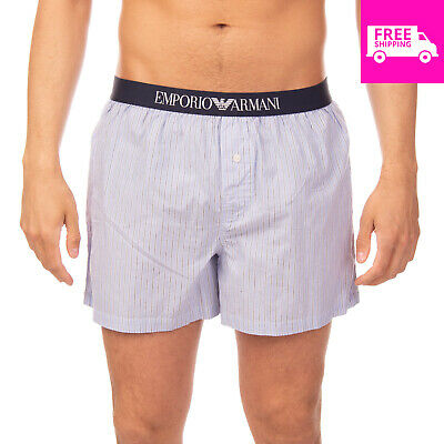 55aa8725a8 EMPORIO ARMANI Loose Boxer Shorts Size L Striped Pattern Branded Waistband