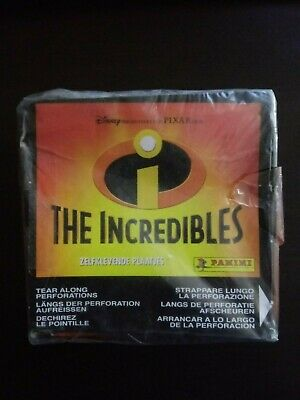 2004 Panini Disney The Incredibles Factory Sealed Sticker Box 50 Packs Last One