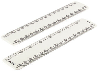 "Rulex 150mm 6"" engineering scale ruler with 8 different scales"