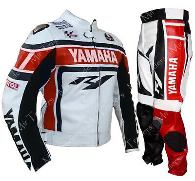 Yamaha Motorbike Leather Suit Mens Racing Motorcycle Leather Jacket Trouser
