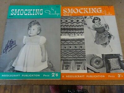 Vintage Retro Smocking Pattern by Penelope Book 1 & 2