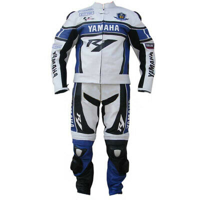 Yamaha Mens Racing Motorcycle Leather Suit Motorbike Leather Jacket Trouser