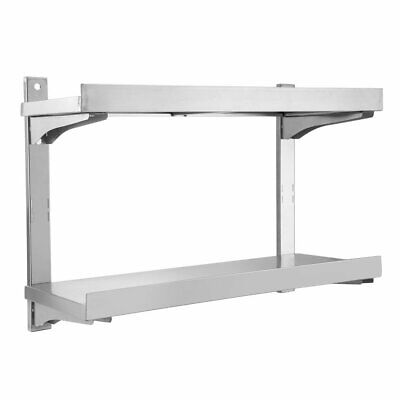 Stainless Steel Shelves Commercial Catering Kitchen Wall Shelf 100 x 30 x CA