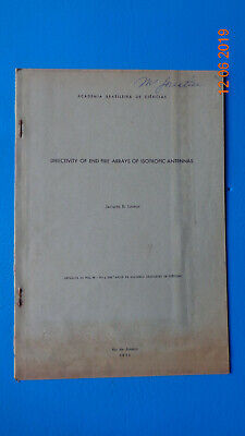 Directivity of end fire arrays of isotropic antennas, LIGNON 1956