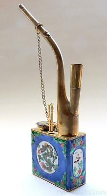 OLD& FINE Chinese BRASS CLOISONNE tobacco/cigarette DRAGON - smoking PIPE-hookah