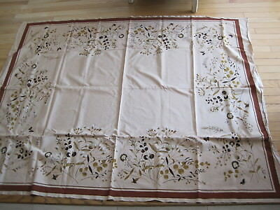 Vtg California Hand Prints Tablecloth  Prairie/Wild Flowers