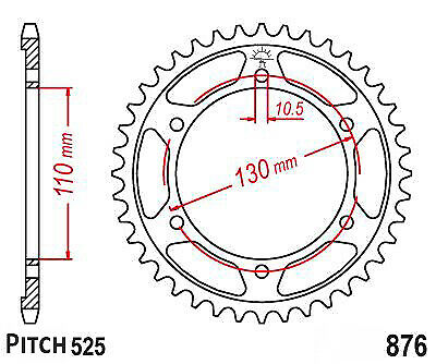 Hendler Rear Sprocket 45T 1876.45 Yamaha MT-09 850 A Sport Tracker 2014-2016
