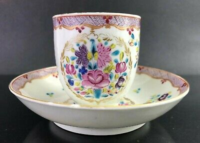 Qing Qianlong Export Porcelain Tea/Coffee Cup & Saucer (Q17)