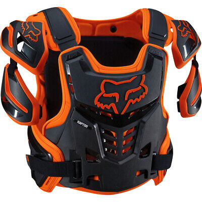 FOX RAPTOR VEST BODY ARMOUR PROTECTION - BLACK / ORANGE motocross mx mtb bike