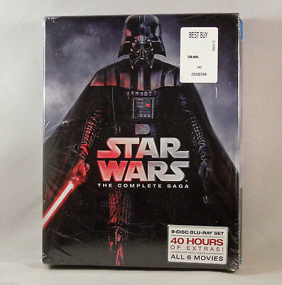 STAR WARS 2015 The Complete Saga (9-Disc Set, Box Set) (Episodes I-VI) [Blu-ray]